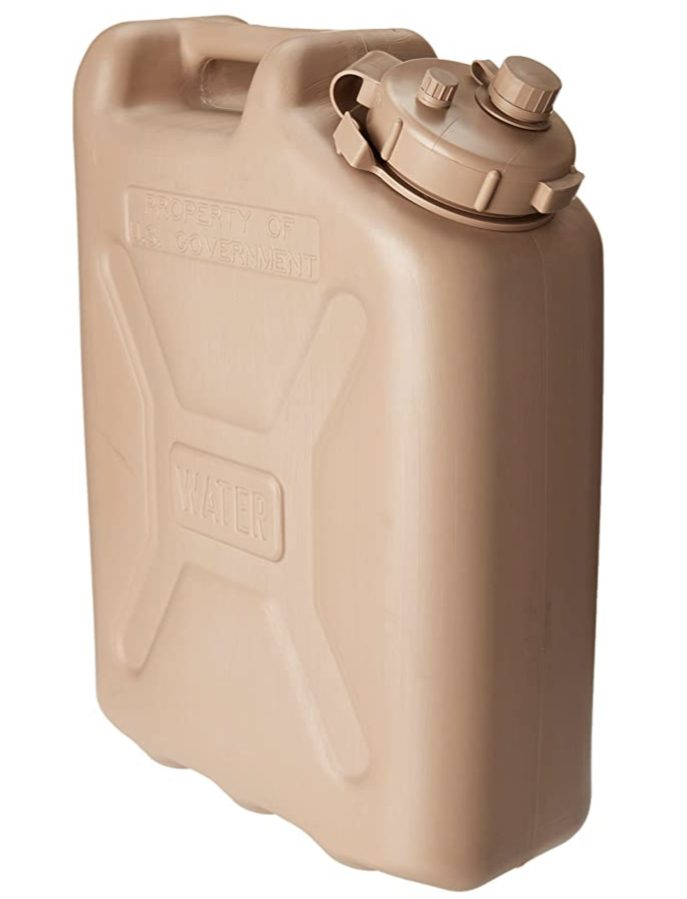 Camping water dispenser - sand coloured large jerry can