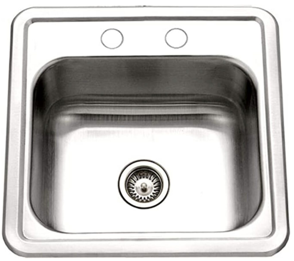Best camper van sinks - small square Stainless Steel sink