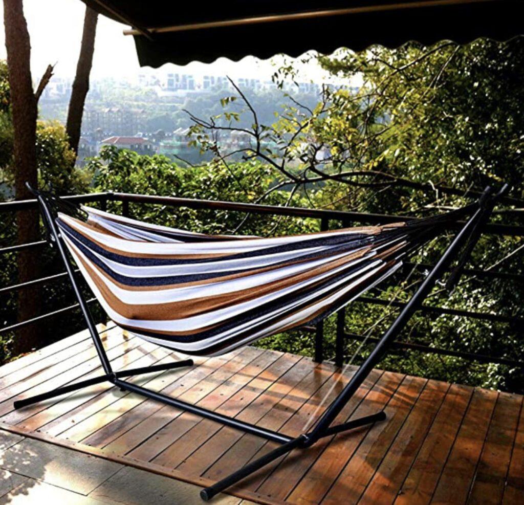 Best hammock with  stand - stripy