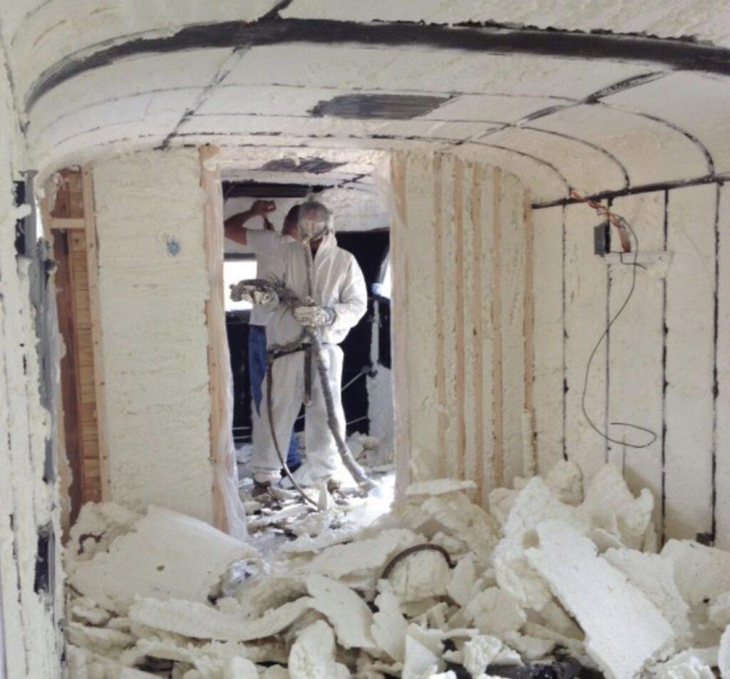 Van insulation - spray foam