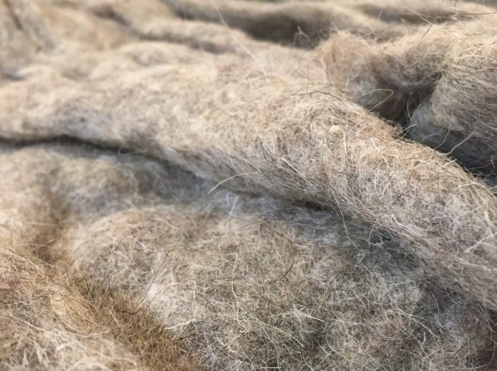 Sheep's wool insulation