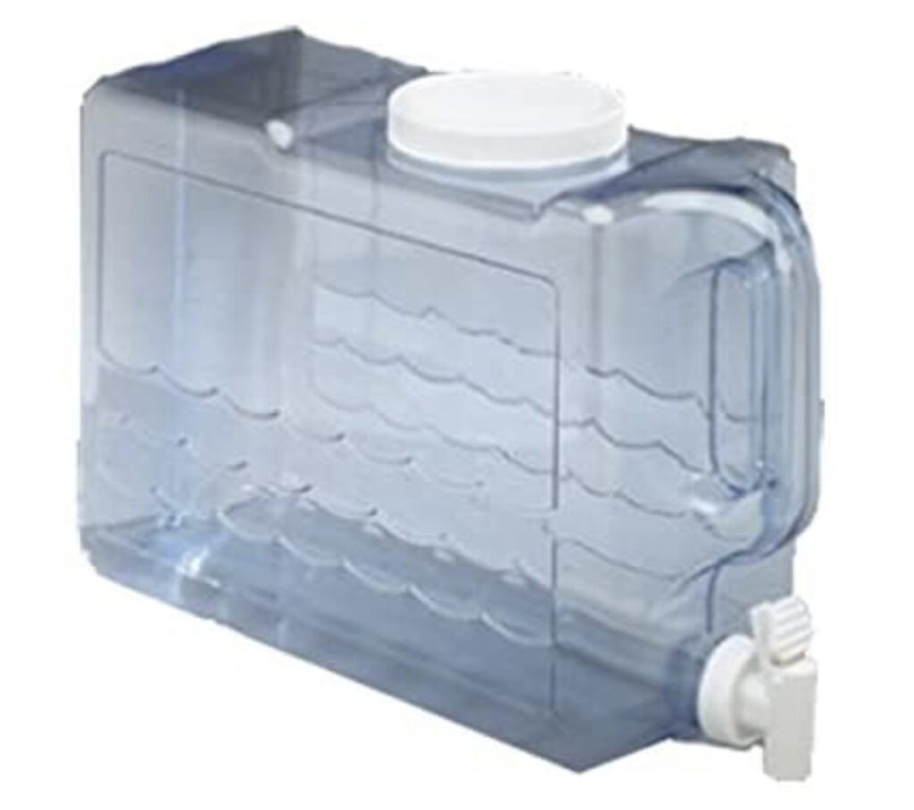 Camping water dispenser - clear with tap