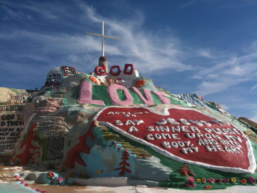 Salvation mountain in Slab City