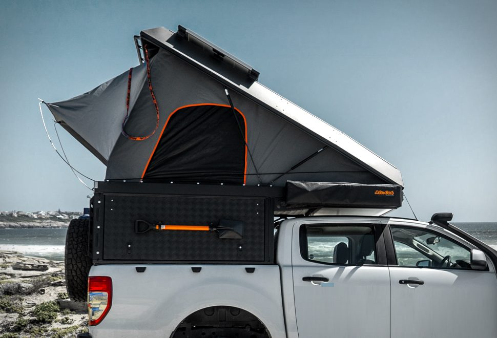 Cool pop top side shot of the Canopy Camper