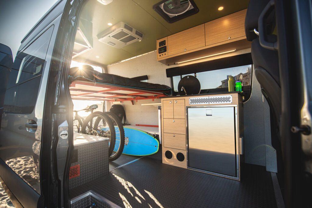 Sprinter van conversion - interior of van