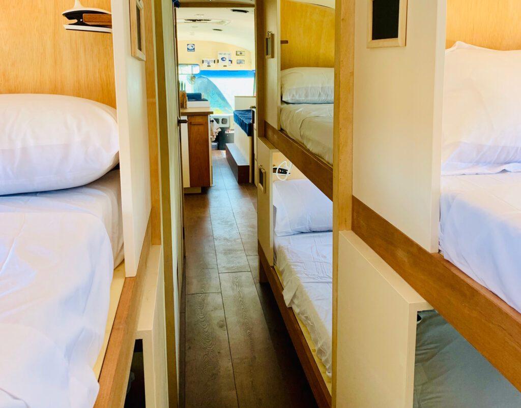 School bus camper - bunk beds