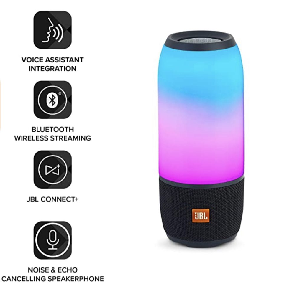 Portable speakers - JBL Pulse 3 with light on