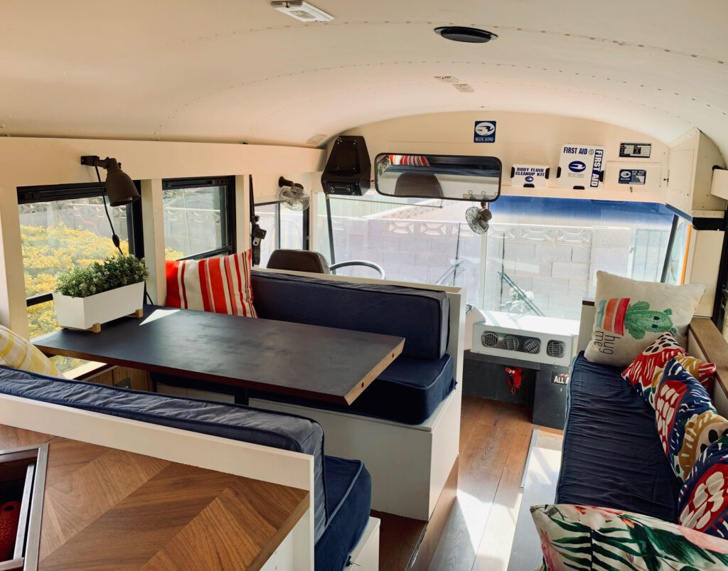 Living room in bus