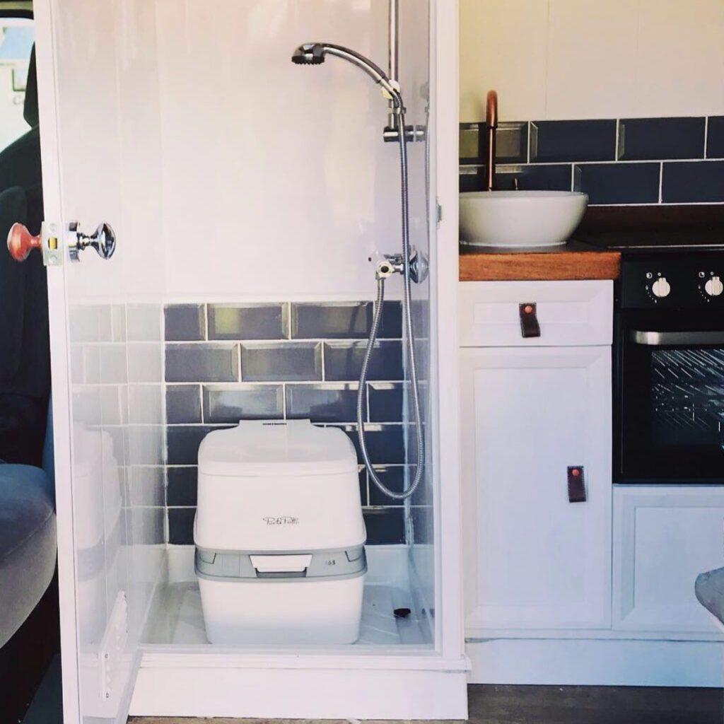 Camper van with bathroom - toilet and shower