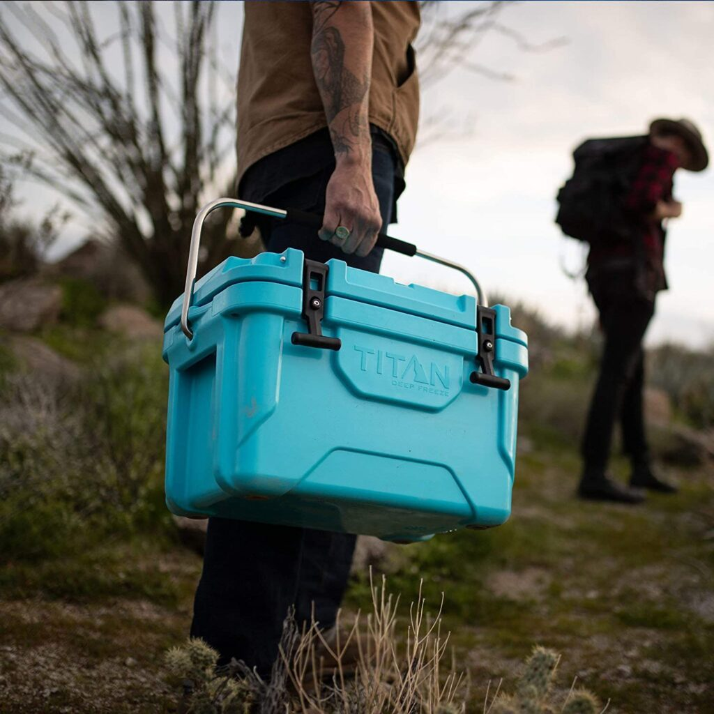 Portable camping cooler