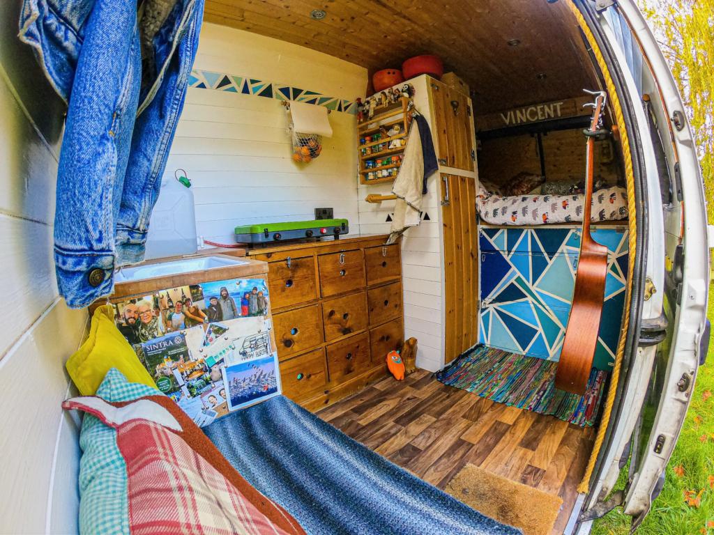 Inside my camper