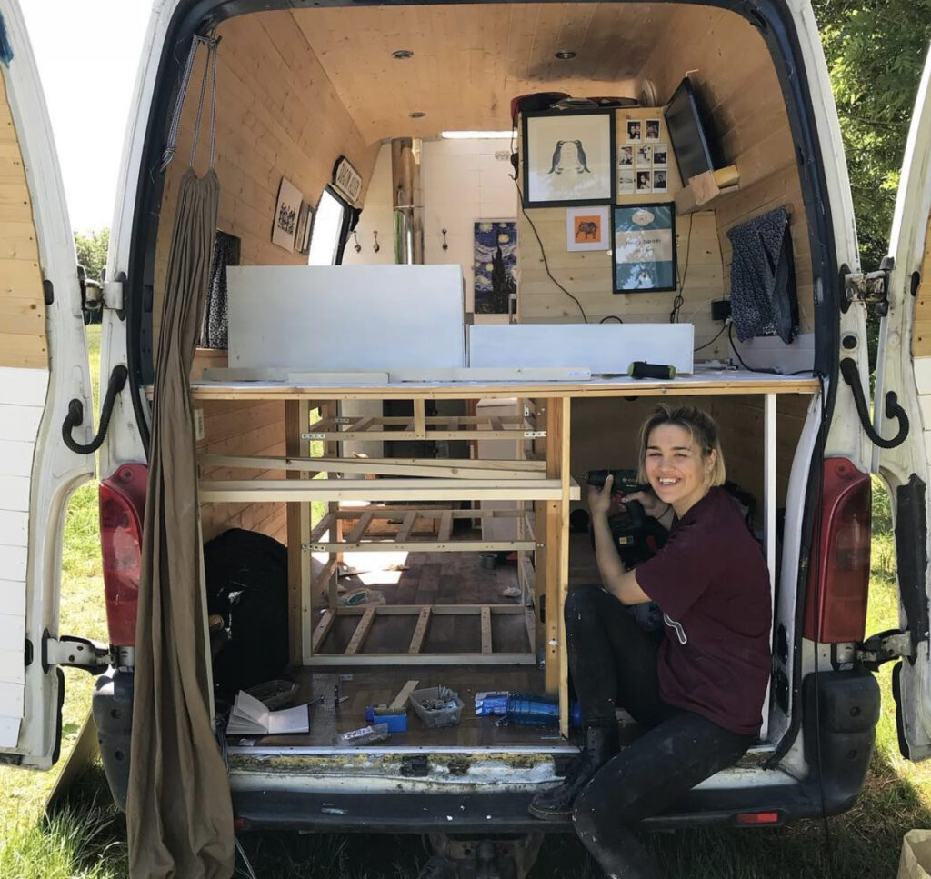 Building drawers in the back of camper