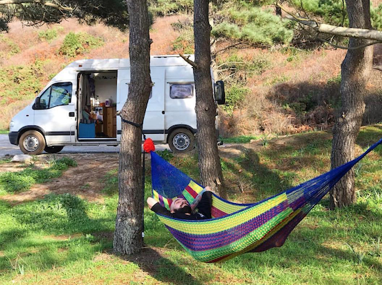 How to plan a road trip - Seb in a hammock