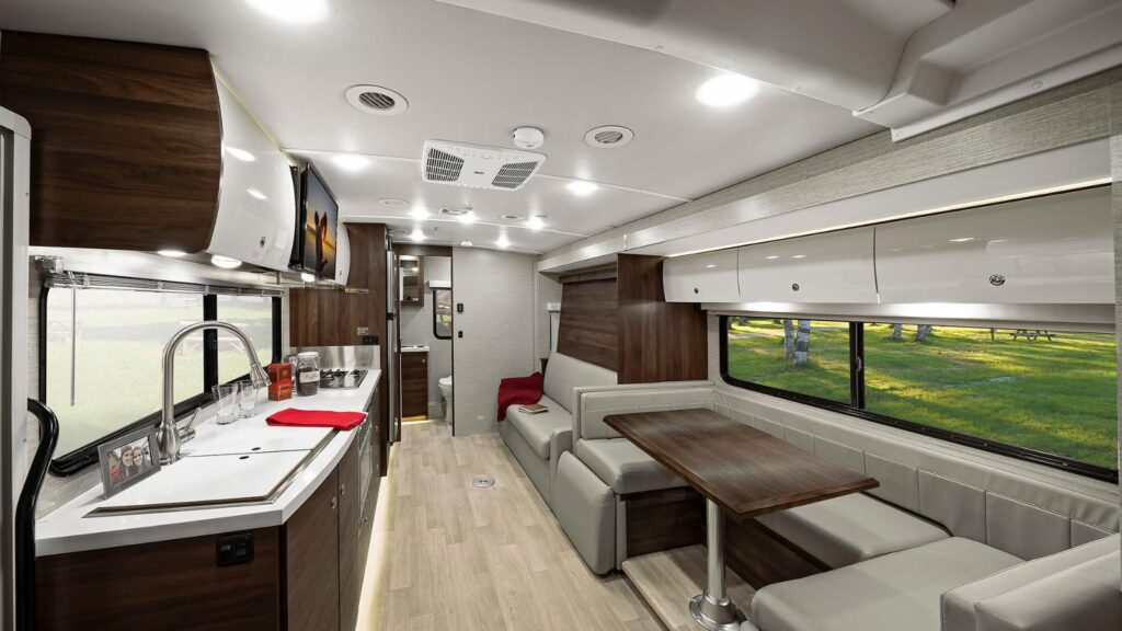 Class C RV - The View interior