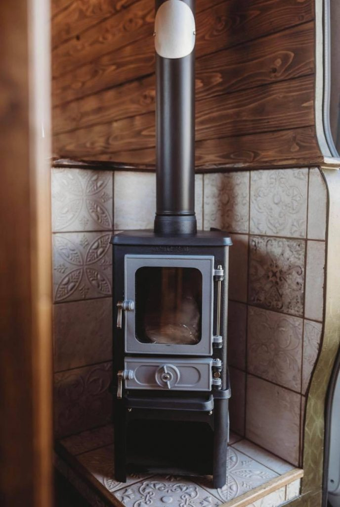 Faith – custom build camper – wood stove