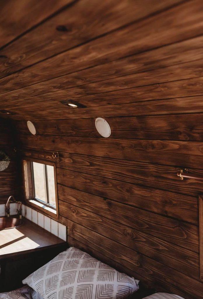 Faith – custom build camper – wooden walls