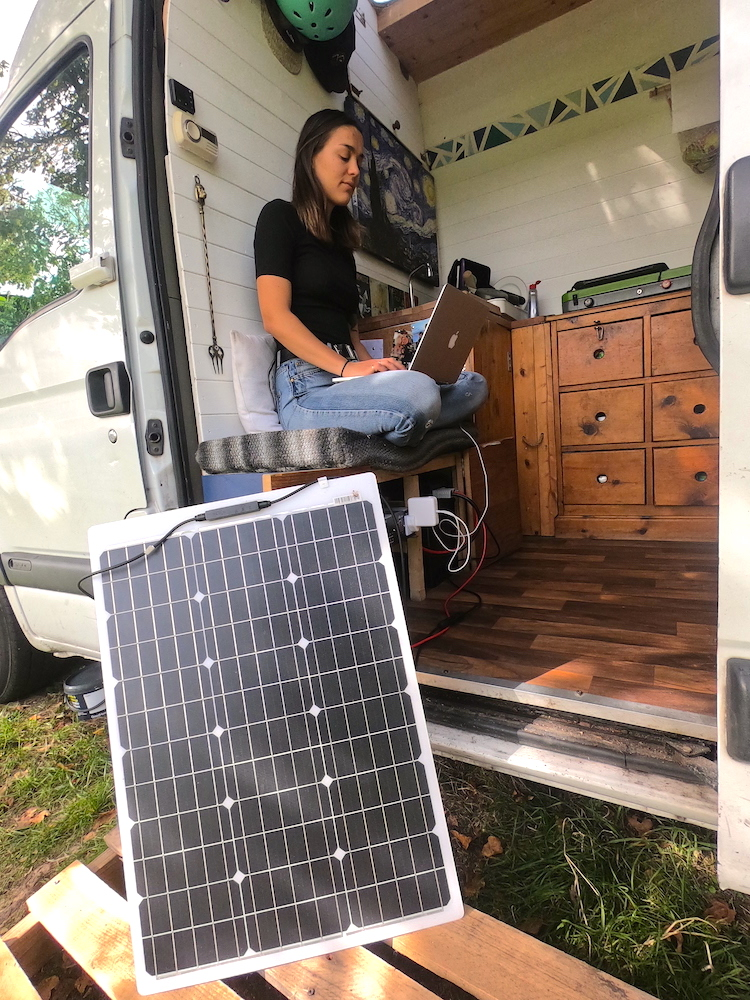 Using a solar panel with our VPH Campervan electrics