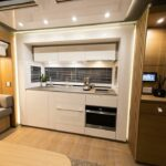 Kitchen with all luxury components.