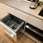 Dishwasher, a luxury component of RV life.
