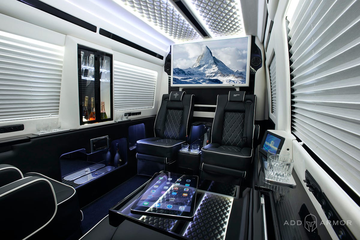 Private Features in the Luxury AddArmor Sprinter vanlife safety