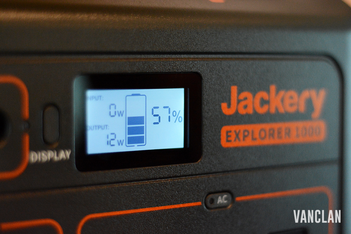Jackery Explorer 1000 Display Power
