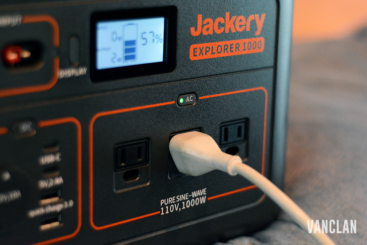 Jackery Portable Power Station Charging a Laptop