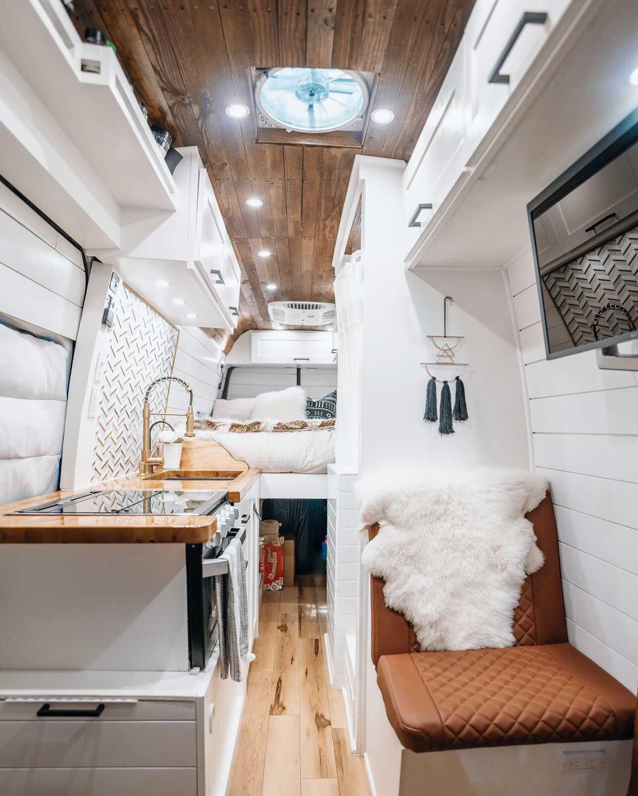 full sized shower in camper van 3