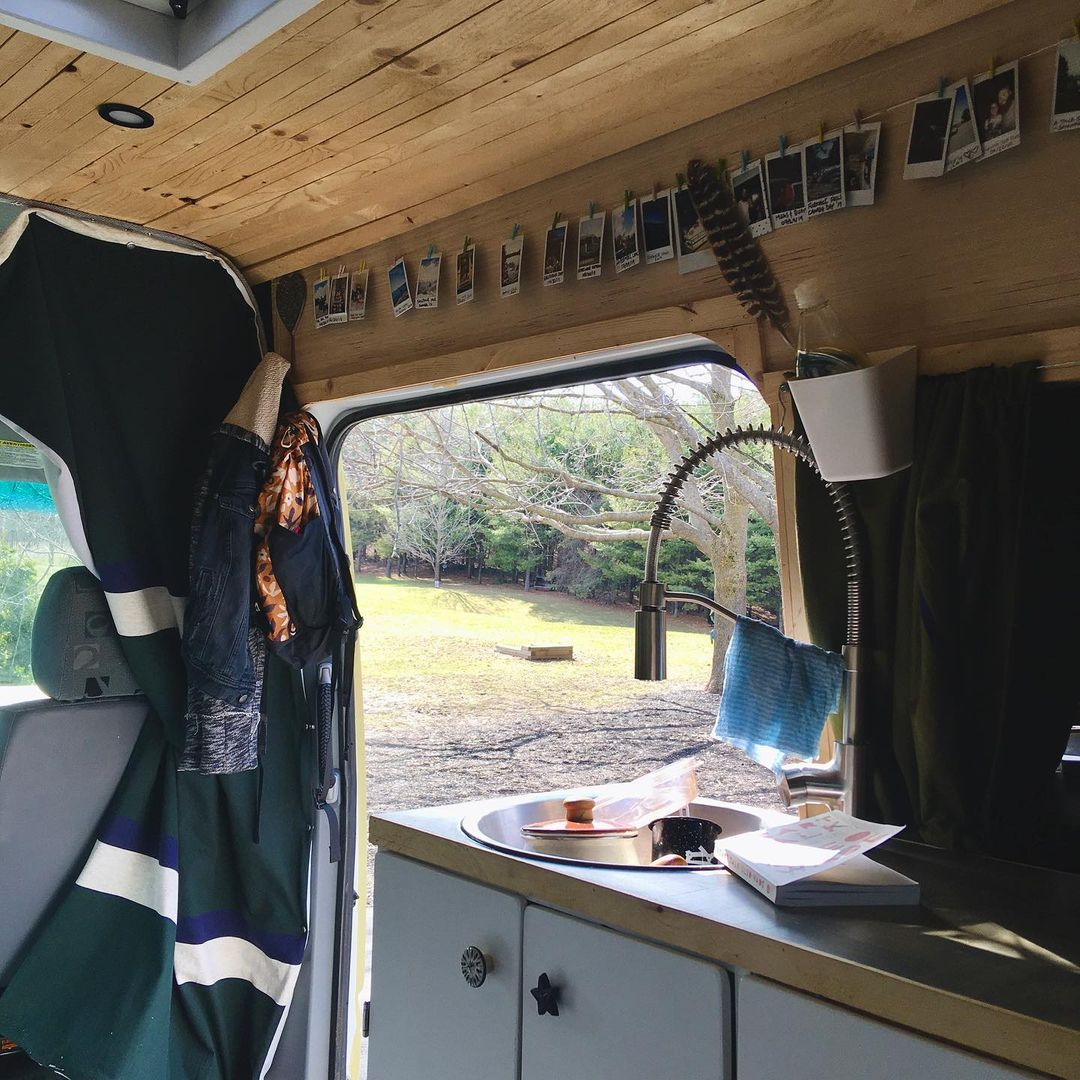 Vanlife monthly costs, interior view of my van