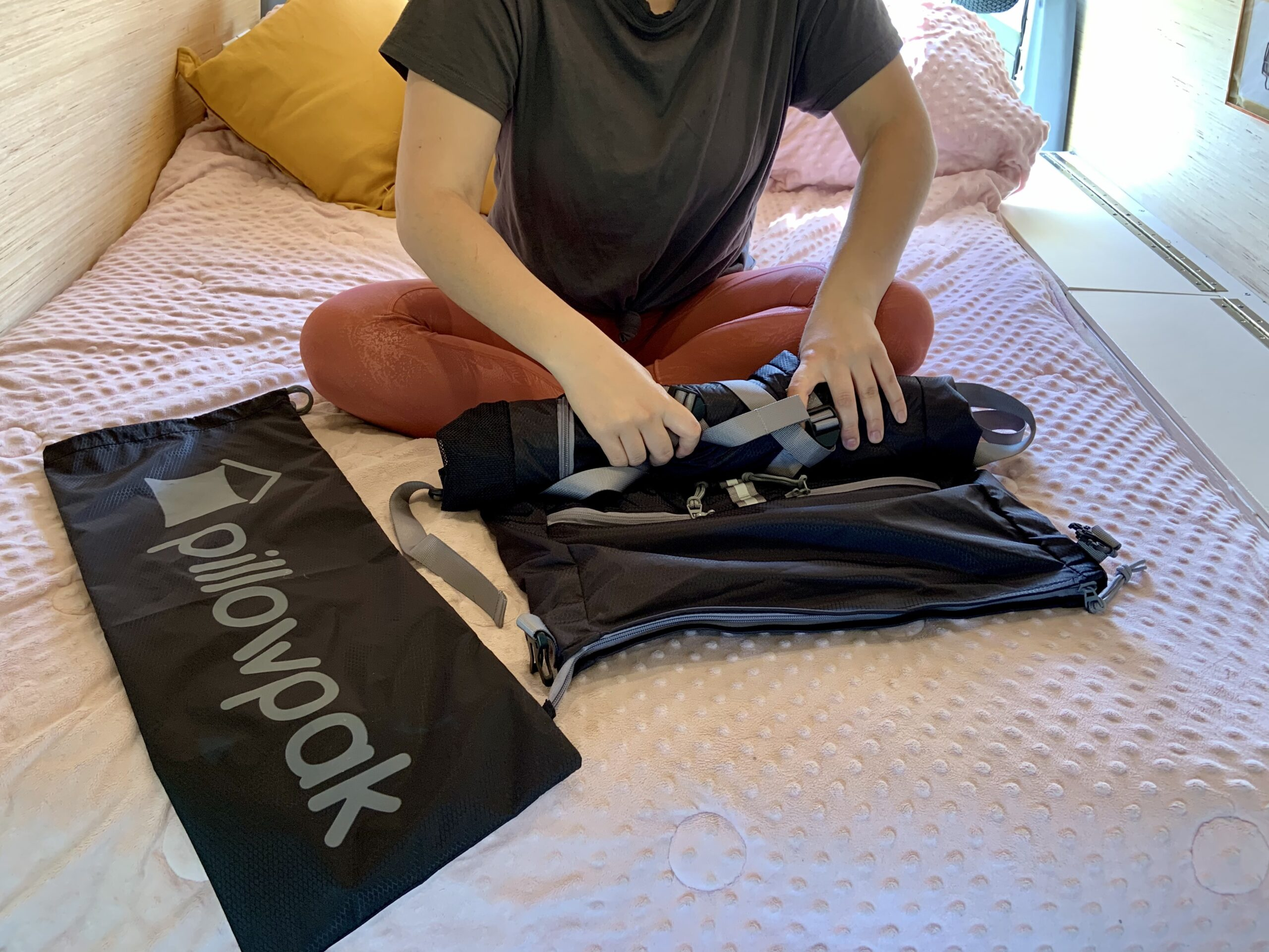 Pillowpak being stored