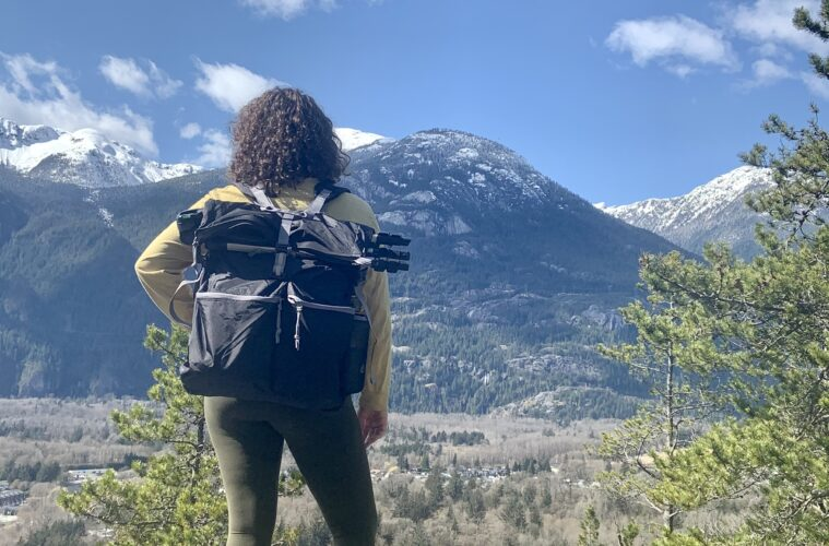 Pillowpak out on a hike